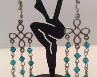 Chandelier Swarovski crystal earrings  ss