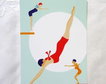 """the pool"" postcard"