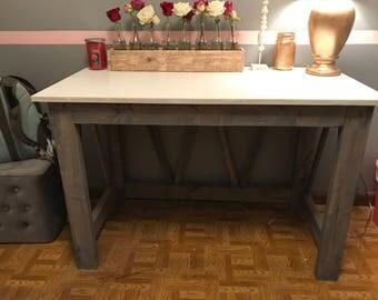 Handmade, Rustic Office Desk