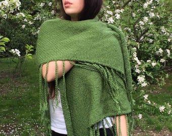 The classic shawl - green