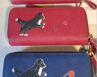 Hand Painted Wallets - Bernese Mountain Dogs