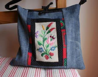 Boho bag, Embroidered bag, Festival bag, Boho shoulder bag, Womens boho bag, Hungarian embroidery, Kalocsa embroidery, Bohemian bag