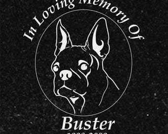 "Personalized Laser Engraved 6""x6"" Granite Pet Memorial Plaque/Marker"