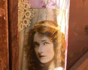 Vintage Renaissance Princess decor candle