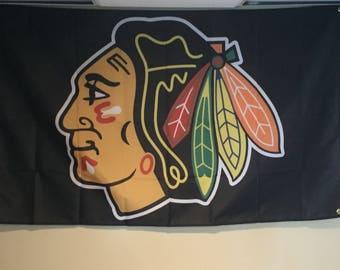 Chicago Blackhawks Wall Flag