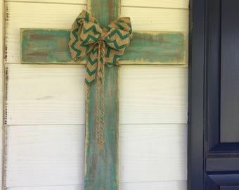 Handmade distressed wooden crosses