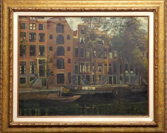The Brewer's Canal - Amsterdam Oil Painting by Louis Rempt