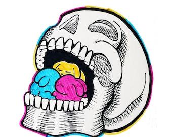 Bunny Skull Print