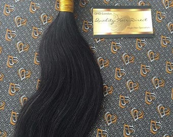 Peruvian Virgin Human Hair Wefts Silky Straight 100g Colour 1b-2