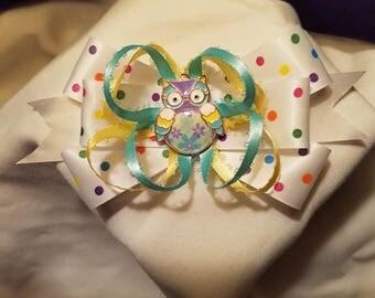 Poka Dot Owl MadMells Hair Bow