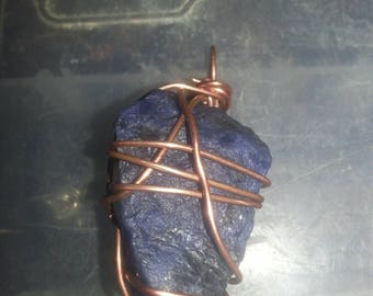Copper Wrapped Blue Sodalite