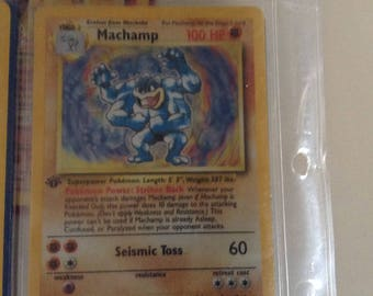 1st edition Machamp mint condition