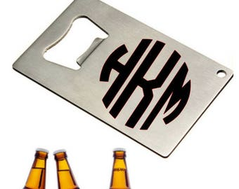 Custom Credit Card Bottle Opener, Bottle Opener, Monogrammed Bottle Opener, Wedding