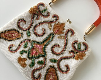 Vintage beaded handbag clutch