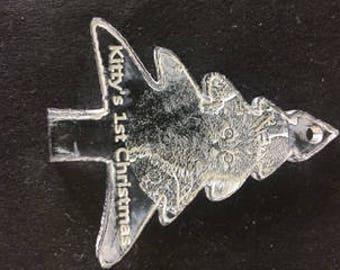 Custom made Christmas Ornamate acrylic plastic