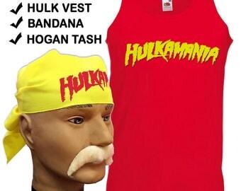 Hulk Hogan Hulkamania fancy dress wcw wwf 80s 90s fancy dress wrestlemania nwo costume