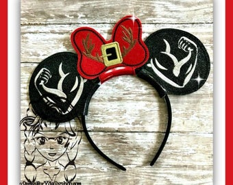 Beast MUSCLe ARM ViLLAIN Inspired (3 Piece) Mr Miss Mouse Ears Headband ~ In the Hoop ~ Downloadable DiGiTaL Machine Emb Design by Carrie