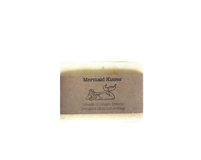 Mermaid Kisses soap organic and vegan soap! Salty sea soap.