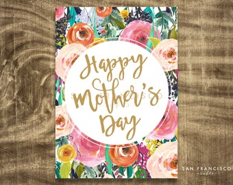 PROMOTION Printable Mother's Day Card | 5x7 (A7) Folded Card | PDF - Instant Download