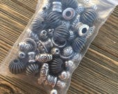 Silver Findings Mix - Round and Spacer Beads