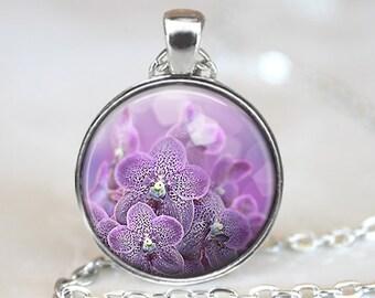 Orchid Pendant, Purple Orchid Pendant, Orchid Jewelry, Purple Orchid Pendant, Orchid Art Pendant, Bronze, Silver, Flower Art Pendant 1289