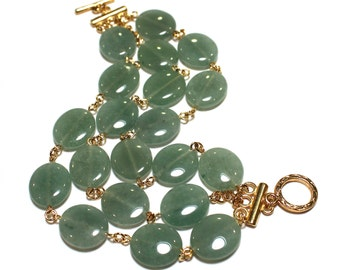 Green Statement Bracelet, Aventurine Bracelet, Aventurine Statement Necklace, Aventurine Jewelry, Gifts For Her, Gifts For Women, Her Gifts