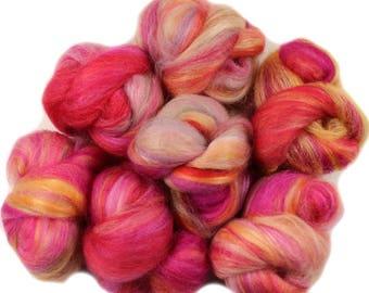 English Daisies battlings -- mini batts (2 oz.) polwarth and merino wool, bamboo, tussah silk.