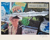 Agatha Christie's MISS MARPLE Collage Photo Notecard