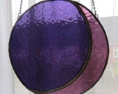 Purple Moon! Gorgeous Stained Glass Suncatcher - pewtermoonsilver