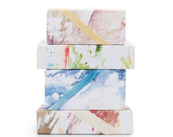 """Wrapping Paper 3 Sheets Hand Dyed Printed 20"""" x 29"""" Gift Wrap Birthday"""