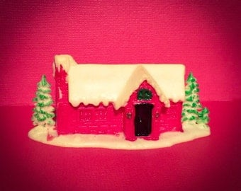 1pc VINTAGE TINY HOUSE Christmas Snow Crafting Miniature