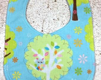 Owls Tree Baby Bib owl
