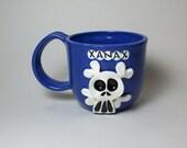 Ceramic Mug - Ceramic Xanax Skully Mug - Blue