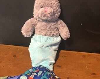 NEW Limited Edition Gray colored MerUnny Easter Mermaid Bunny with a removable MerTail