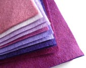 PURPLES Wool Blend Felt Pack 10 squares