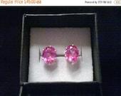 9x7mm Pink Sapphire Earrings, Oval Cut Pink Sappire Earrings, Pink Sapphire Earrings, Pink Sapphire Studs