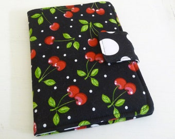 Retro Cherry Kindle Cover, Basic ereader Case, Soft Book Style