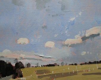 Promise, Original Winter Landscape Painting on Paper, Stooshinoff
