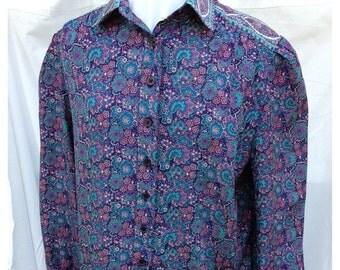 SALE- Retro Eighties Dress-Silky Floral