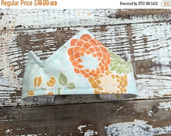 40% OFF- Newborn Crown--Upcycled-Quilted-Reversible--Photo Prop