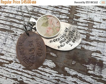 40% OFF- Spoon Necklace-Stamped Jewelry-Great is His Faithfulness