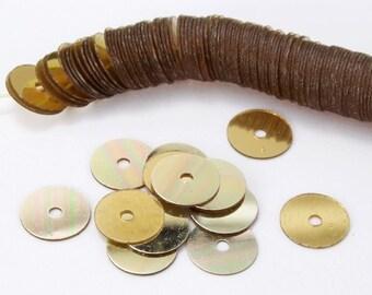 6mm Gold Flat Sequin (1000 Pcs) #6570