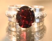 Ravishing Red - Garnet Gemstone ring - reserved for Eileen