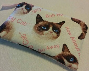GRUMPY CAT Zippered Padded Coin Pouch