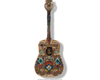 Songwriter Souvenir Mixed Media Guitar