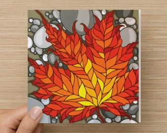 The Colours of Change I Art Greeting Card