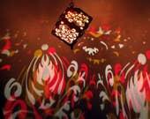 Flame Damask LED wooden p...