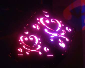 Bass Clef Heart Pirate Lantern uplight