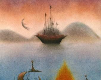 Idle Passengers - fine art reproduction
