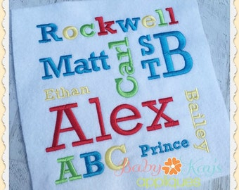 "Rockwell Embroidery Font .5"", 1"", 1.5"", 2"", includes BX"